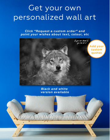 Wolves Glance Canvas Wall Art - image 7