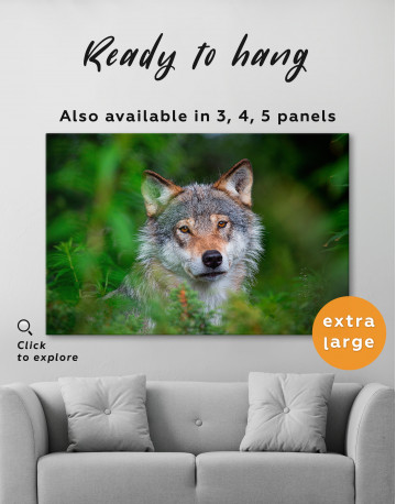 Wolves Glance Canvas Wall Art - image 3