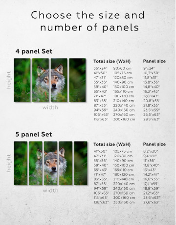 Wolves Glance Canvas Wall Art - image 2