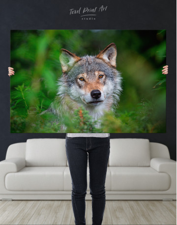 Wolves Glance Canvas Wall Art - image 9