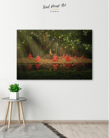 Buddhist Monks Meditating Canvas Wall Art - image 6