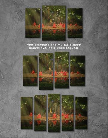 Buddhist Monks Meditating Canvas Wall Art - image 5