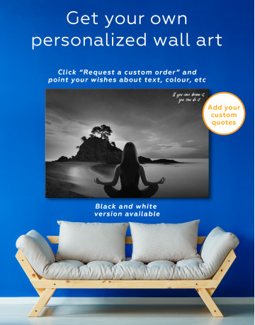 Yoga Girl Meditating Canvas Wall Art - image 4