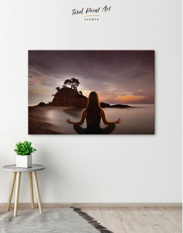 Yoga Girl Meditating Canvas Wall Art - image 5