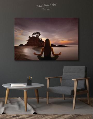 Yoga Girl Meditating Canvas Wall Art - image 7