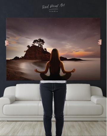 Yoga Girl Meditating Canvas Wall Art - image 2