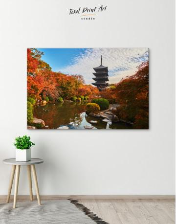 Toji Temple Kyoto Japan Canvas Wall Art - image 5