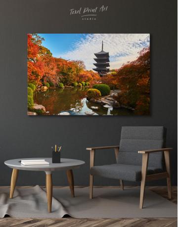 Toji Temple Kyoto Japan Canvas Wall Art - image 7