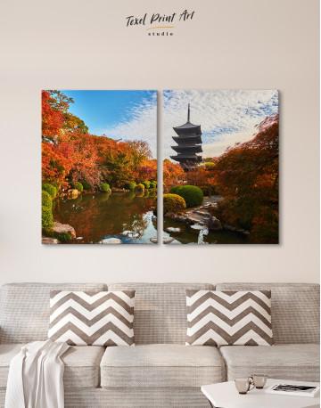 Toji Temple Kyoto Japan Canvas Wall Art - image 1