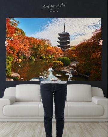 Toji Temple Kyoto Japan Canvas Wall Art - image 2