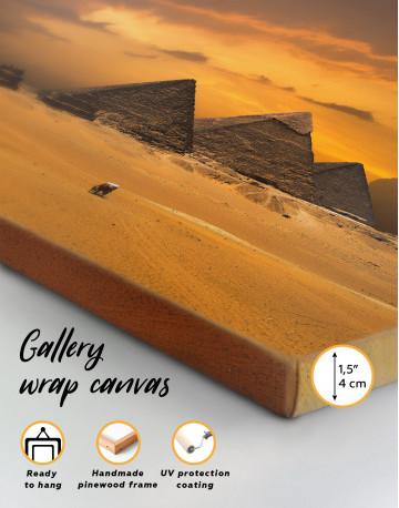 Pyramids With A Beautiful Sky Of Giza Canvas Wall Art - image 2