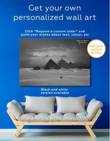 Pyramids With A Beautiful Sky Of Giza Canvas Wall Art - image 3