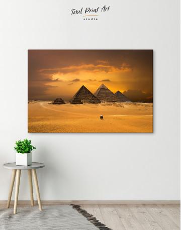 Pyramids With A Beautiful Sky Of Giza Canvas Wall Art - image 4