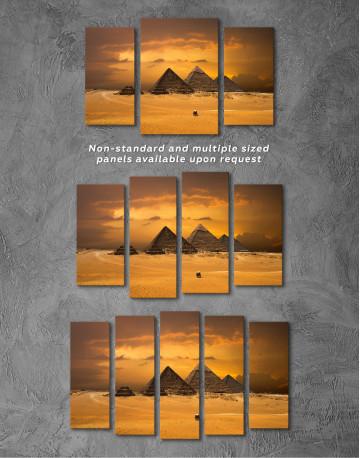 Pyramids With A Beautiful Sky Of Giza Canvas Wall Art - image 5