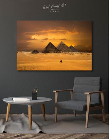 Pyramids With A Beautiful Sky Of Giza Canvas Wall Art - image 6