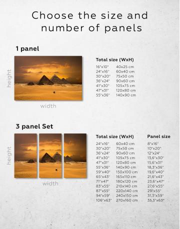 Pyramids With A Beautiful Sky Of Giza Canvas Wall Art - image 10