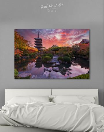 Toji Temple in Kyoto Canvas Wall Art