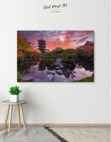 Toji Temple in Kyoto Canvas Wall Art - image 5