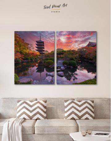 Toji Temple in Kyoto Canvas Wall Art - image 1