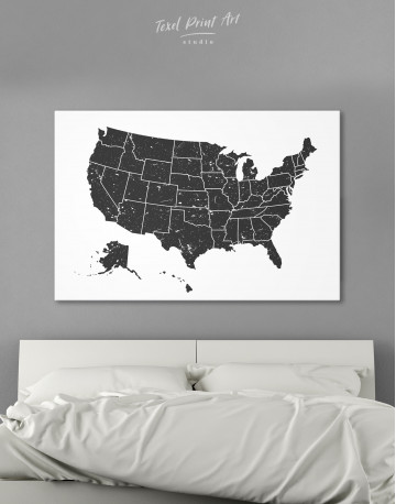 Black and White USA Map Canvas Wall Art - image 9