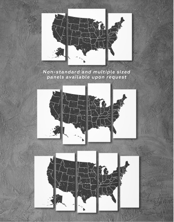 Black and White USA Map Canvas Wall Art - image 7
