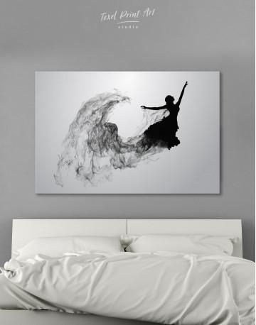Ballerina Silhouette Black and White Canvas Wall Art