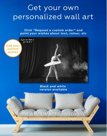 Ballerina Photo Canvas Wall Art - image 8