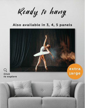 Ballerina Photo Canvas Wall Art - image 3