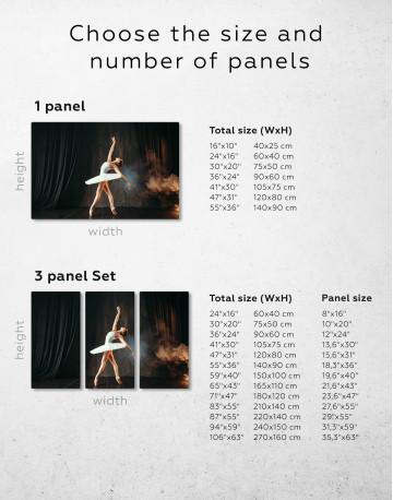 Ballerina Photo Canvas Wall Art - image 1