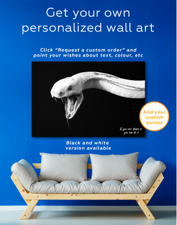 YKing1 Albino King Cobra Snake Canvas Wall Art - image 7