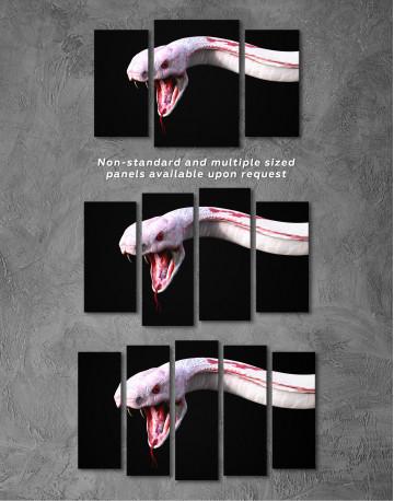 YKing1 Albino King Cobra Snake Canvas Wall Art - image 5