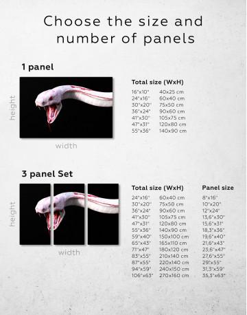 YKing1 Albino King Cobra Snake Canvas Wall Art - image 1