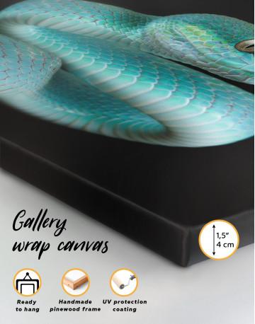 Blue Viper Snake Canvas Wall Art - image 8