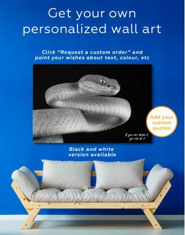 Blue Viper Snake Canvas Wall Art - image 7