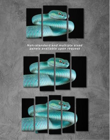 Blue Viper Snake Canvas Wall Art - image 5