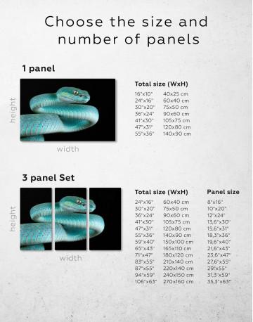Blue Viper Snake Canvas Wall Art - image 1