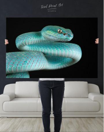 Blue Viper Snake Canvas Wall Art - image 9