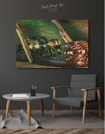 Black Snake Close Up Canvas Wall Art - image 4