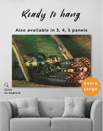 Black Snake Close Up Canvas Wall Art - image 3