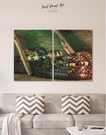 Black Snake Close Up Canvas Wall Art - image 10