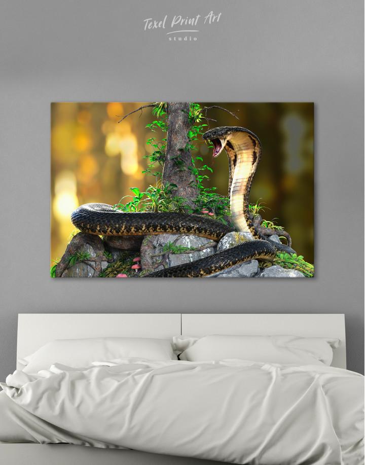King Cobra Canvas Wall Art
