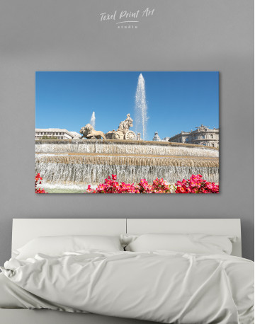 Fountain of Cybele (Madrid) Canvas Wall Art