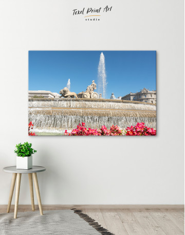 Fountain of Cybele (Madrid) Canvas Wall Art - image 6