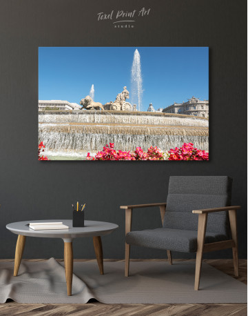 Fountain of Cybele (Madrid) Canvas Wall Art - image 4