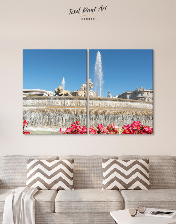 Fountain of Cybele (Madrid) Canvas Wall Art - image 10