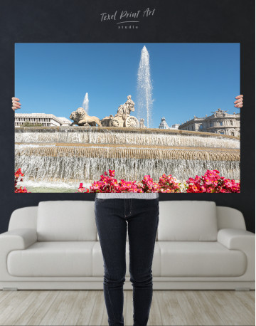 Fountain of Cybele (Madrid) Canvas Wall Art - image 9