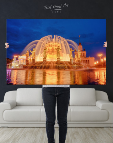 Fountain of Friendship of Nations Moscow Canvas Wall Art - image 9