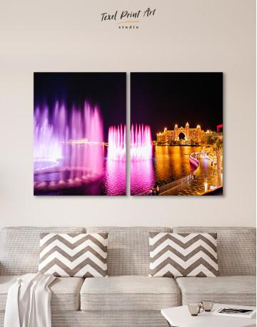 Pink Fountain of Dubai Canvas Wall Art - image 10
