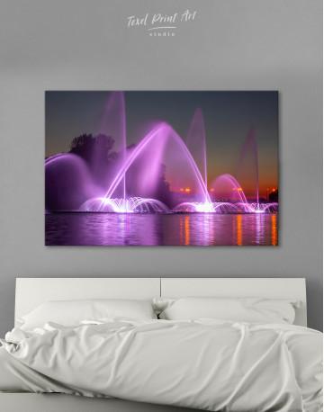 Illuminated Fountain Canvas Wall Art