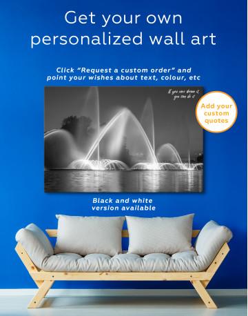 Illuminated Fountain Canvas Wall Art - image 7